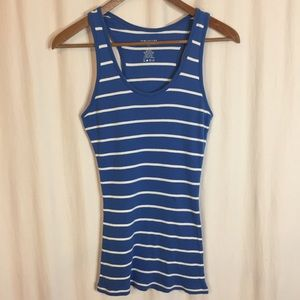 Maurices Blue and White Stripe Tank Top